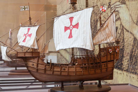 discovered: Models of the Spanish caravels that discovered America