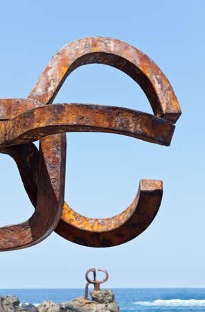 San Sebastian, Spain, June 17, 2012. Sculpture Comb Editorial