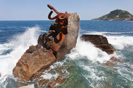 san sebastian: San Sebastian, Spain, June 17, 2012. Sculpture Comb Editorial