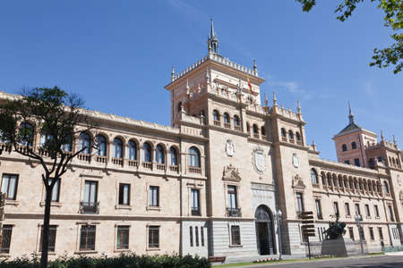 cavalry: Valladolid, Spain, June 14. 2012. Cavalry Military Academy, the city landmark building Editorial