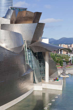 Bilbao, Spain, June 16, 2012. Contemporary Art Museum Guggenheim Bilbao, designed by Frank O. Gehry.