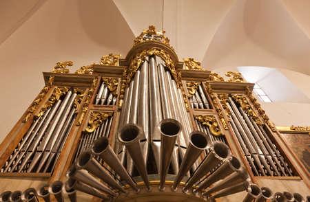 pipe organ: old organ of a church Editorial