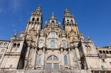 Main of the Cathedral of Santiago de Compostela in Spain photo