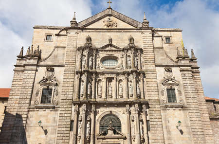 Santiago de Compostela, Spain, August 5, 2012: Monasterio de San Martin Pinario, of the Benedictine order, of the tenth century