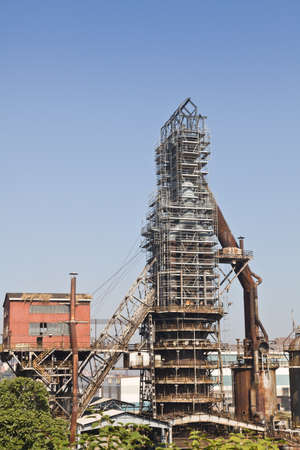 vizcaya: Industry furnaces for processing of iron in Sestao, Vizcaya, Spain