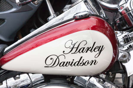 VALLADOLID, JANUARY 12: Name Harley Davidson in Valladolid on January 12, 2013, during the Penguins concentration. Meet more than 26,000 motorcycles worldwide.
