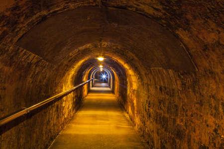 Underground corridor of an old wine cellar Stock Photo - 18933399