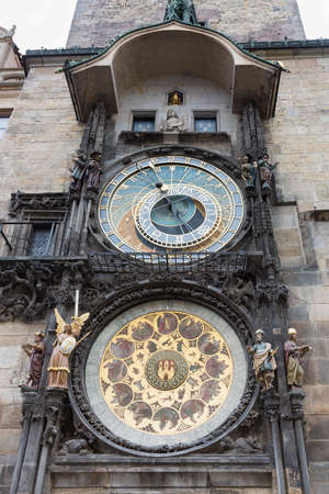 allegory painting: astronomical clock, Prague Stock Photo