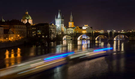st charles: Prague, Czech Republic - December 12, 2016 St. Charles Bridge over the Vltava river