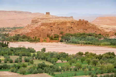 Kasbah Ait Ben Haddou in the Atlas Mountains of Morocco. UNESCO World Heritage Site since 1987. Stok Fotoğraf