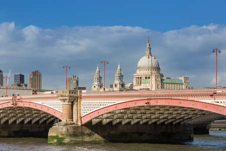 St. Pauls Cathedral and Blackfriars Bridge in London