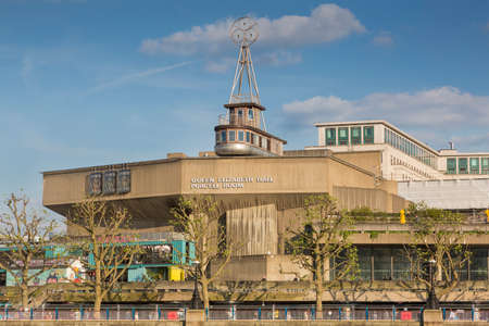 London, UK - May 16, 2016; The Queen Elizabeth Hall (QEH) is a music venue on the South Bank in London, England, that hosts daily classical, jazz, and avant-garde music and dance performances