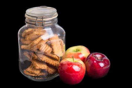 Autumn apples and cookies pot