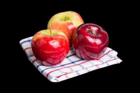 Autumn apples on a tablecloth