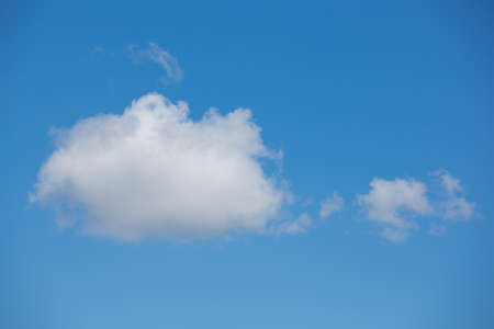 Light gentle cloud on a blue sky, natural background