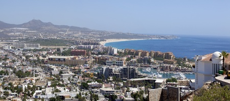 Panoramic view of Cabo San Lucas, Mexico.  5 pictures were used to make this Panoramic image