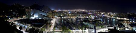 カボ サン ルーカス、メキシコ夜のパノラマ風景。5 写真は、このパノラマ画像に使われました。 写真素材