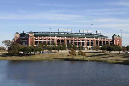 ballpark: Arlington, Texas, USA - November 29, 2011: Rangers Ballpark in Arlington, Texas. (opened on April 1, 1994 ), is home to the American League