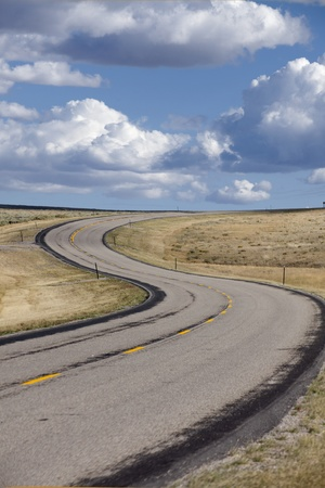 S-curve in a roadway Stock Photo - 12193760