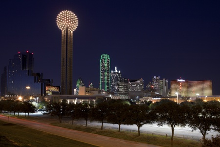 nightime: Dallas Texas at night