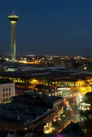 Aeriel view of San Antonio Texas Stock Photo