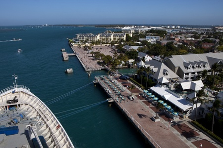 Overlooking Mallory square in Key West  photo