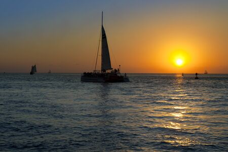 Sailing into the Sunset Stock Photo - 17071408