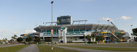 Sun Life Stadium, also known as Dolphin Stadium, is home to both the Miami Dolphins  NFL  and Miami Hurricanes  NCAA  football team