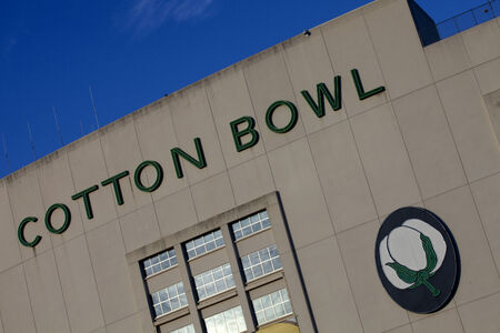bowl game: Cotton Bowl Stadium home of the annual NCAA college football post-season bowl game known as the Cotton Bowl Classic is located on the site of the State Fair of Texas and has hosted both professional and college football and soccer games and many concerts  Editorial