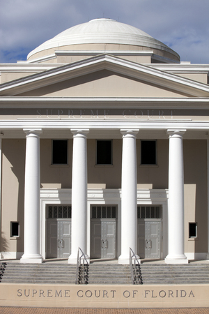 Supreme courthouse in Tallahassee, Florida on a beautiful day
