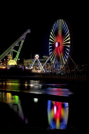 wildwood: Amusement Piers at night in Wildwood New Jersey