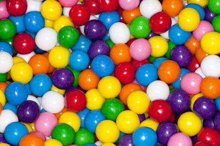 Colorful gum balls