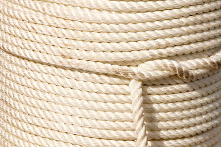 Coil of boating or dock rope Stock Photo