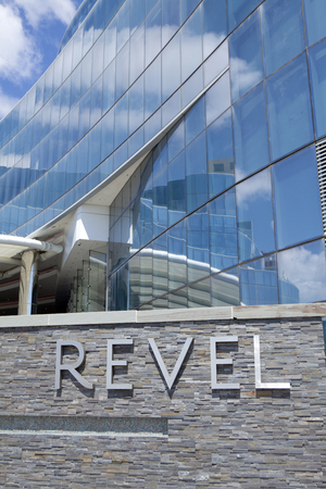 revel: The Revel Casino behind it in Atlantic City, New Jersey. The Revel, Atlantic City\ Editorial