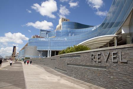 revel: The Revel Casino behind it in Atlantic City, New Jersey. The Revel, Atlantic City\ Editorial
