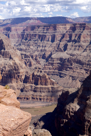 west river: Scenic view of the west rim of The Grand Canyon. and the Colorado River below
