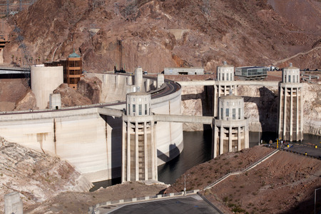 mead: Hoover Dam at Lake Mead Stock Photo