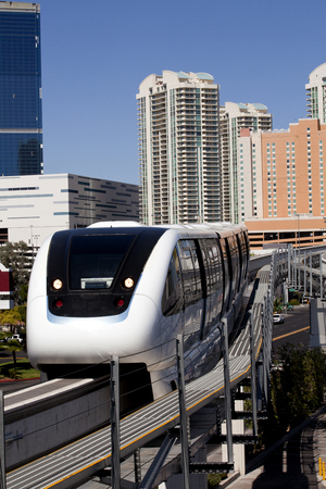 Public transportation with an electric monorail train\ system