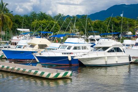 sport fishing: Sport fishing boats at a marina in Puerto Vallarta MexicoMarina Stock Photo