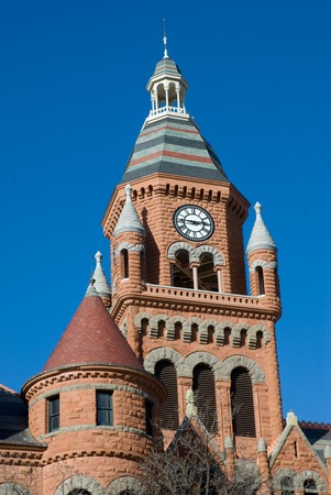 gargouilles: The Old Red Courthouse au centre-ville de Dallas est un bel exemple de la ferveur de construction du palais de justice qui a balay� le Texas dans les ann�es 1880 et 1890. Dans un roman imposante avec des tourelles et des gargouilles (en fait Wyverns).