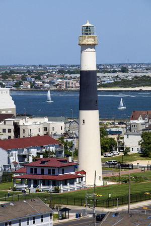 atlantic city: Aerial view of the Absecon Lighthouse in Atlantic City, New Jersey