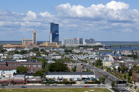 atlantic city: The marina district of Atlantic City, New Jersey From Left to Right: Golden Nugget Casino, Harrah\\\\