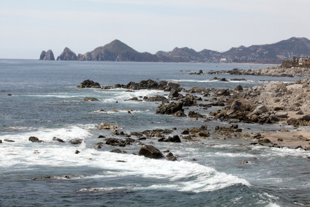 Great view of the Cabo San Lucas and Lands End in the far background photo