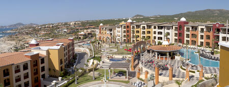 Panoramic view of Cabo San Lucas, Mexico.  7 pictures were used to make this large image