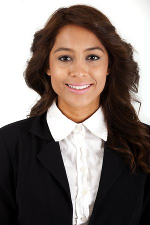 Headshot of Yong Business Woman, Shot on a white background