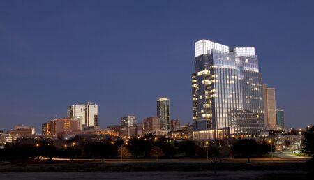 nite: Dowtown skyline of Ft Worth, Texas