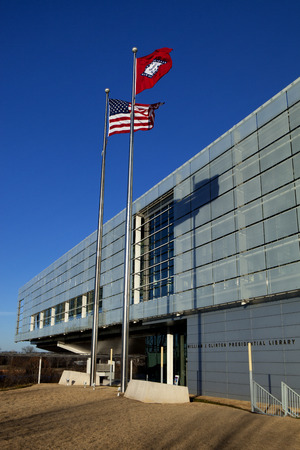 presidency: William Jefferson Clinton Presidential Library in Little Rock, Arkansas. The libaray will house the archive of all official documents and records of U.S. President Bill Clinton as well as have displays of world events during his presidency.