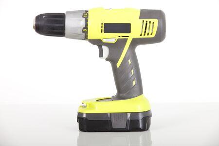 battery power drill on white background 版權商用圖片