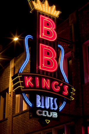 bb: BB Kings Blues Club on The famous Beale Streetin Downtown Memphis, Tennessee. Editorial