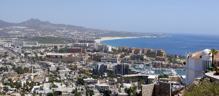lucas: Panoramic view of Cabo San Lucas, Mexico. 4 pictures were used to make this large image Stock Photo
